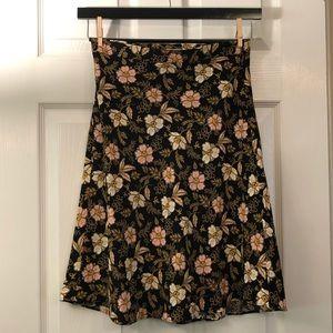 NWT Loft floral midi skirt